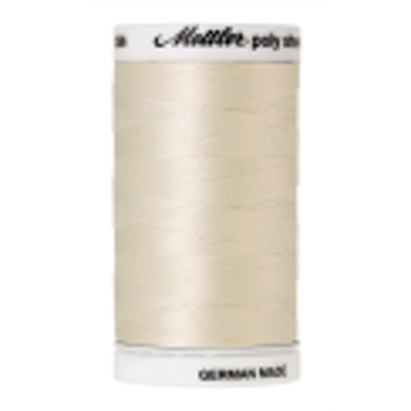 Amann Mettler Poly Sheen Cream glänzt durch den trilobalen Fadenquerschnitt besonders schön. Zum Sticken, Quilten, Nähen. 800m Spule