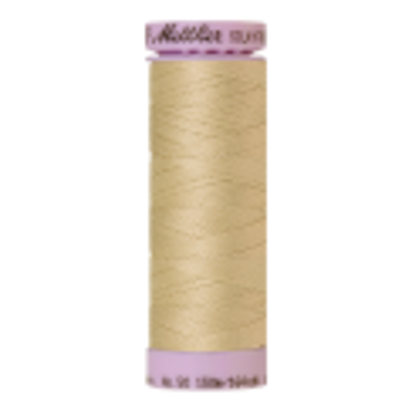 Silk-Finish Cotton 50, 150m - Ivory: Reines Baumwollgarn aus 100% langstapliger, ägyptischer Baumwollte von Amann Mettler