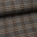 Mantel-Woll-Tweed (Made in Italy) Lorenzo schwarz