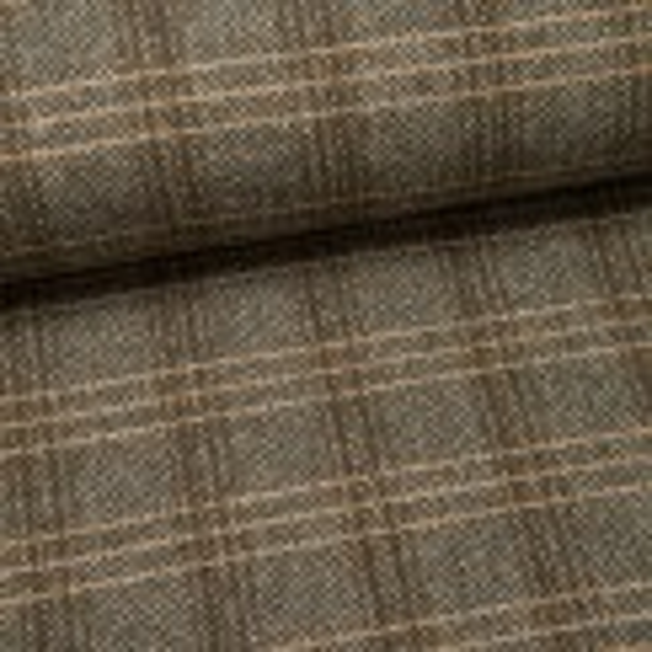 Mantel-Woll-Tweed (Made in Italy) Lorenzo khaki