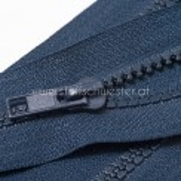 Teilbarer Reißverschluss, 5mm, eingespritzt, dunkelpetrol