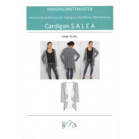 "Papierschnittmuster Cardigan ""Salea"""