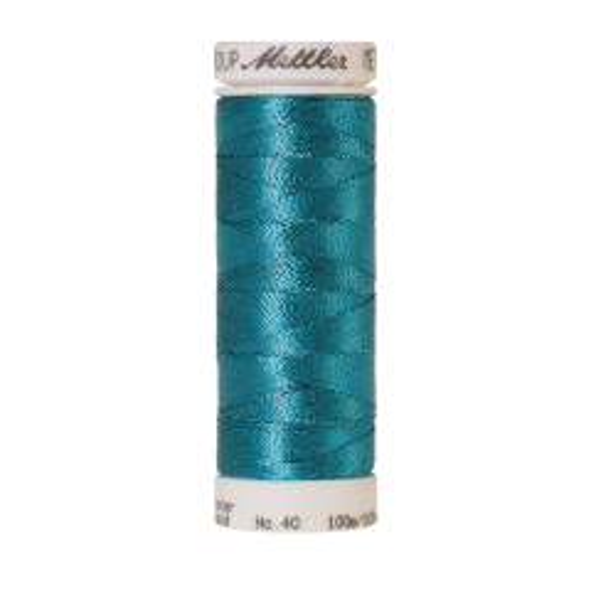 Amann Mettler Metallic 40, 100m - Bright Turquoise