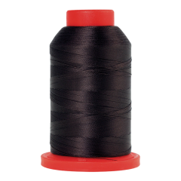 Amann Mettler Seralene in der Farbe Black Peppercorn auf der 2000m Kone. Seralene ist hervorragend geeignet für feine Nähte auf leichten Stoffen!