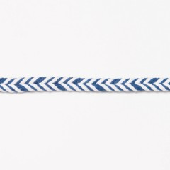 10mm Baumwollkordel Fischgrät dunkelblau