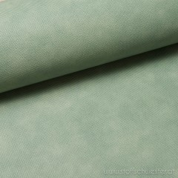 Lederimitat mit Struktur grün