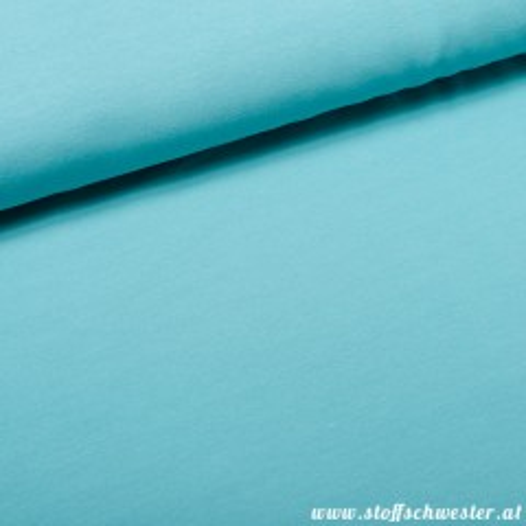 Stoffschwesters Kuscheljersey, ein Jerseysweat - mint