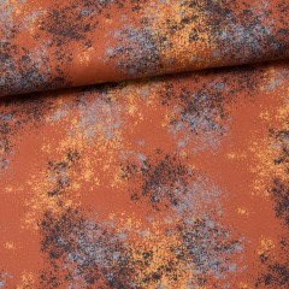 Baumwolle Kurt terracotta/gelb/grau