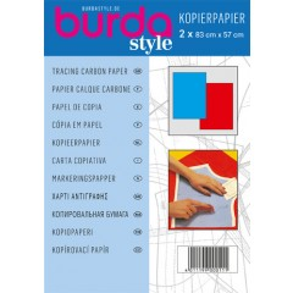 Burda Kopierpapier rot-blau