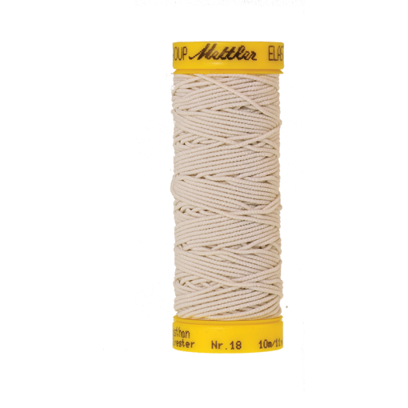 Amann Mettler Elasticfaden 10m - Eggshell