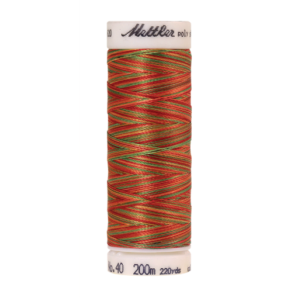 Amann Mettler Poly Sheen Multi, 200m Spule in Mexicana  Die Multifarben harmonieren perfekt mit dem unifarbenen Poly Sheen