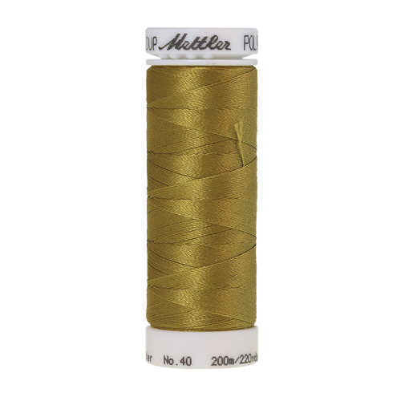 Amann Mettler Poly Sheen Tarnished Gold glänzt durch den trilobalen Fadenquerschnitt besonders schön. Zum Sticken, Quilten, Nähen. 200m Spule