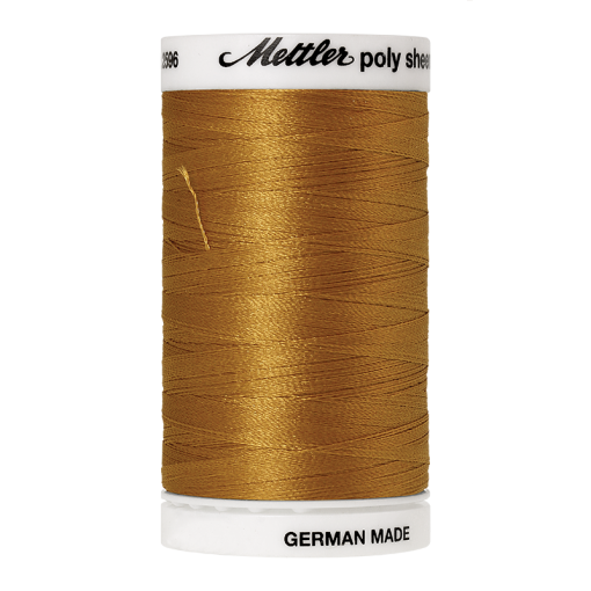 Amann Mettler Poly Sheen Palomino glänzt durch den trilobalen Fadenquerschnitt besonders schön. Zum Sticken, Quilten, Nähen. 800m Spule