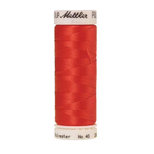 Amann Mettler Poly Sheen Spanish Tile glänzt durch den trilobalen Fadenquerschnitt besonders schön. Zum Sticken, Quilten, Nähen. 200m Spule