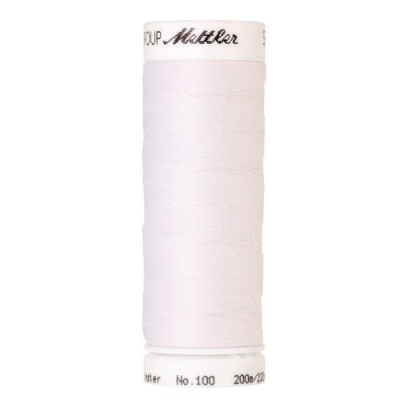 Amann Mettler Seralon 100, 200m - White - Allesnäher