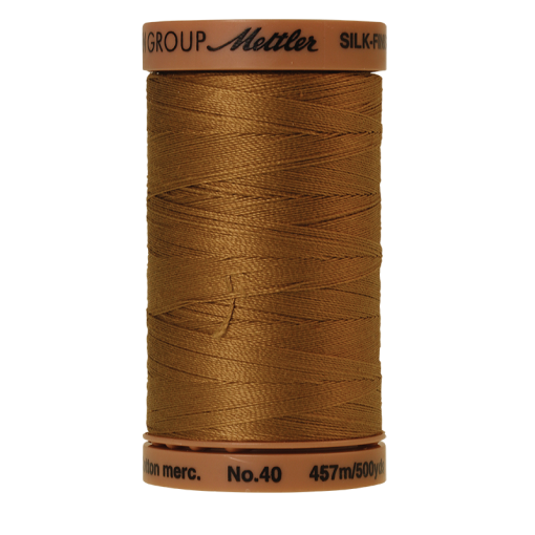 Silk-Finish Cotton 40, 457m - Dark Tan: Reines Baumwollgarn aus 100% langstapliger, ägyptischer Baumwollte von Amann Mettler