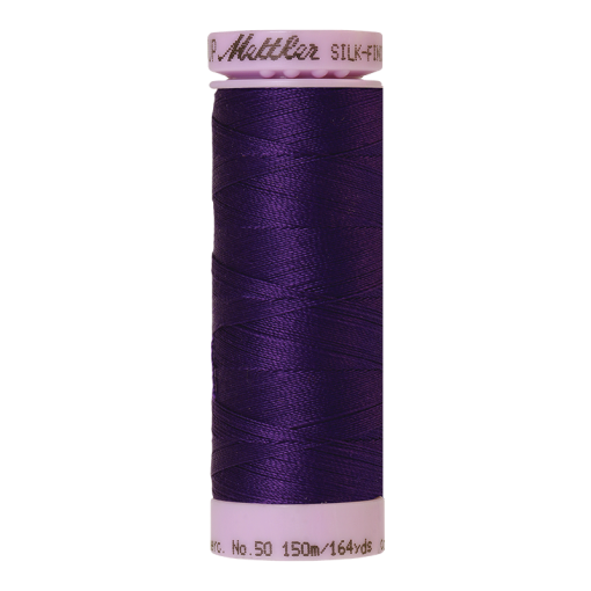 Silk-Finish Cotton 50, 150m - Deep Purple: Reines Baumwollgarn aus 100% langstapliger, ägyptischer Baumwollte von Amann Mettler