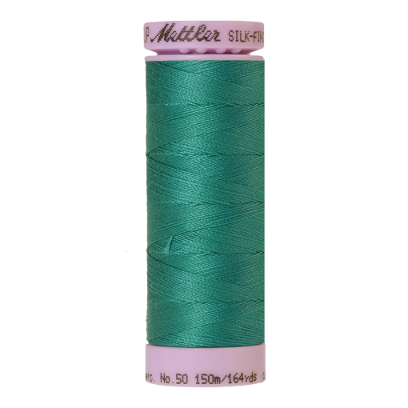 Silk-Finish Cotton 50, 150m - Green: Reines Baumwollgarn aus 100% langstapliger, ägyptischer Baumwollte von Amann Mettler
