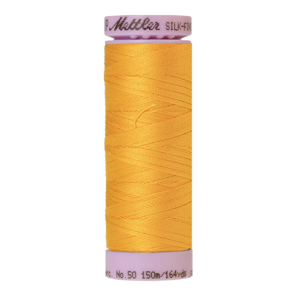 Silk-Finish Cotton 50, 150m - Citrus: Reines Baumwollgarn aus 100% langstapliger, ägyptischer Baumwollte von Amann Mettler