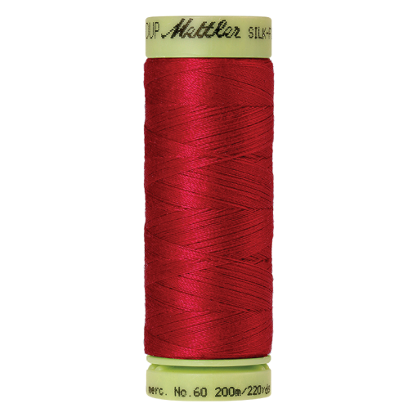 Silk-Finish Cotton 60, 200m - Poinsettia: Reines Baumwollgarn aus 100% langstapliger, ägyptischer Baumwollte von Amann Mettler