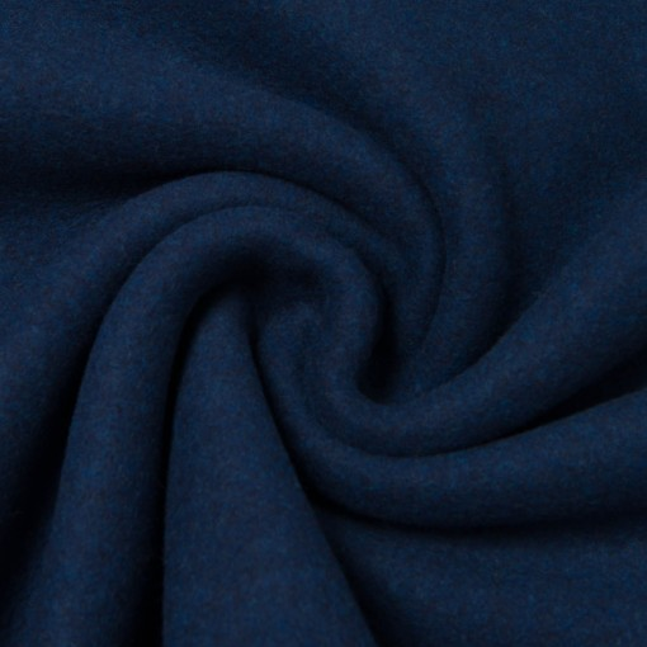 Bio-Baumwollfleece dunkelblau melange