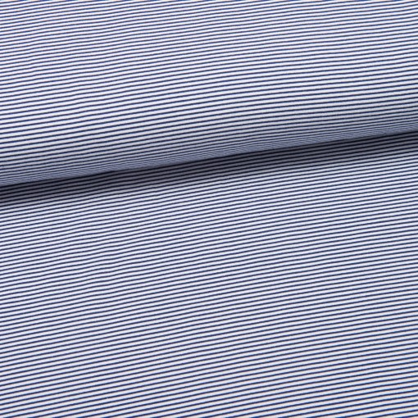 Sommersweat fein gestreift dunkelblau/weiß