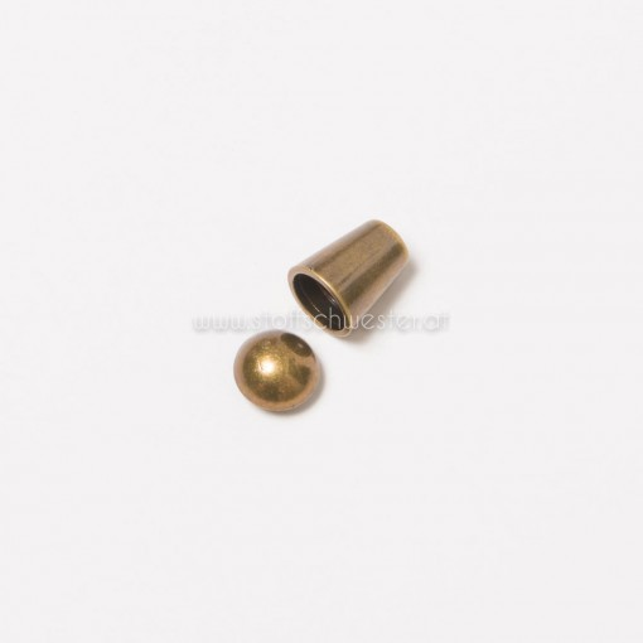 """5mm Kordelende """"Zylinder"""" antik gold"""