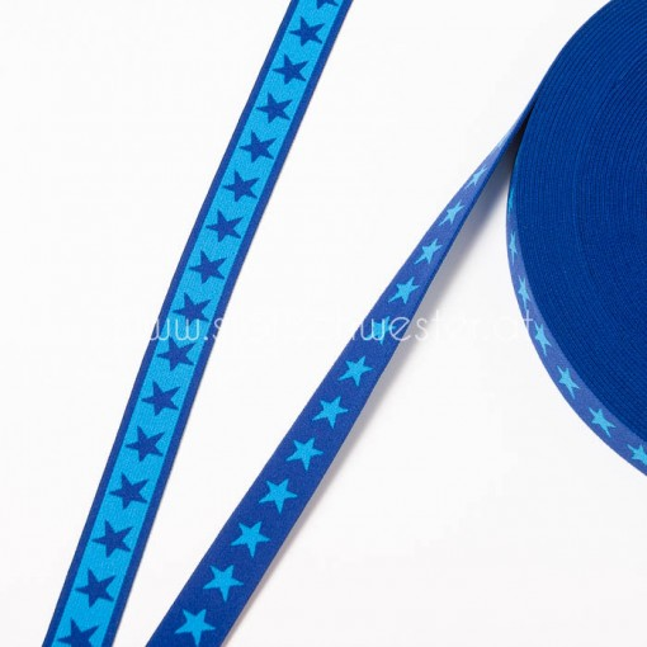 20mm Sternengummi royalblau/aqua