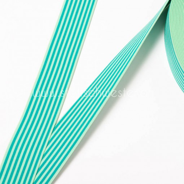 40mm Streifengummi grün