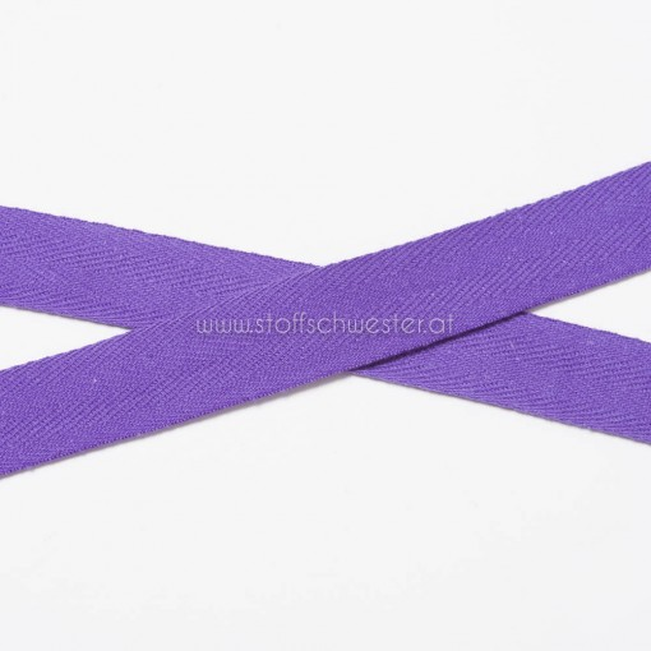 20mm Baumwollköperband lila