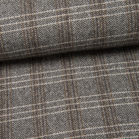 Mantel-Woll-Tweed (Made in Italy) Lorenzo naturweiß
