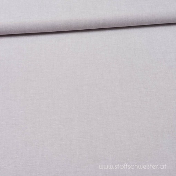 Basicbaumwolle von der Stoffschwester: Baumwolle meliert grau