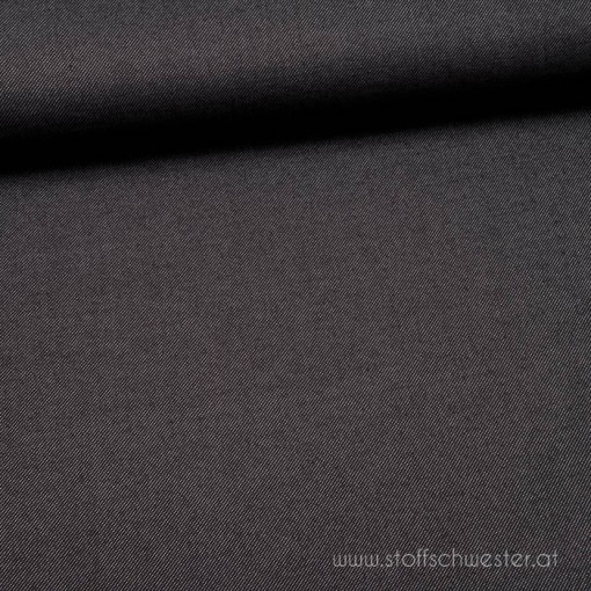 Stoffschwesters Light Denim-Look Jersey schwarz