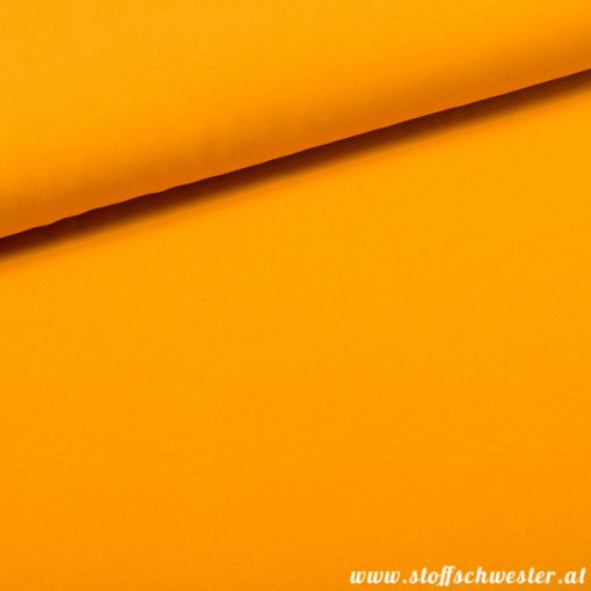 Stoffschwesters Kuscheljersey, ein Jerseysweat - senf