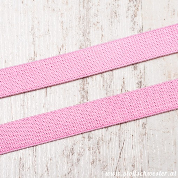 Stoffschwesters 15mm Einziehgummi rosa