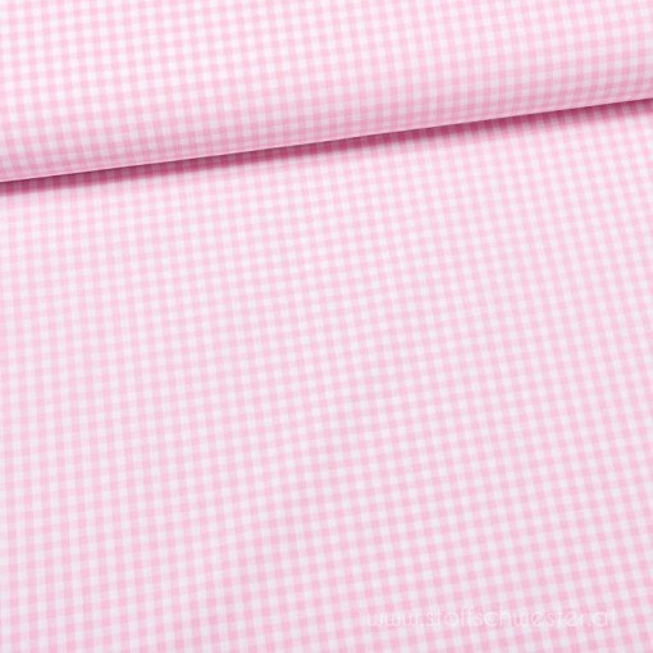 Uschi, Trachtenstoff Karos rosa/weiß