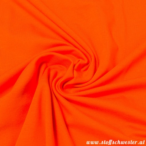 Stoffschwesters Unijersey orange
