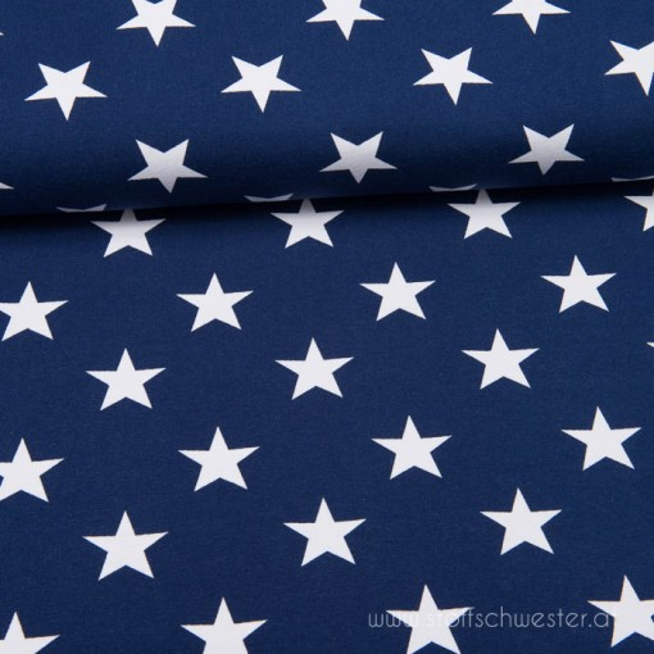 Stoffschwesters Große Sterne dunkelblau