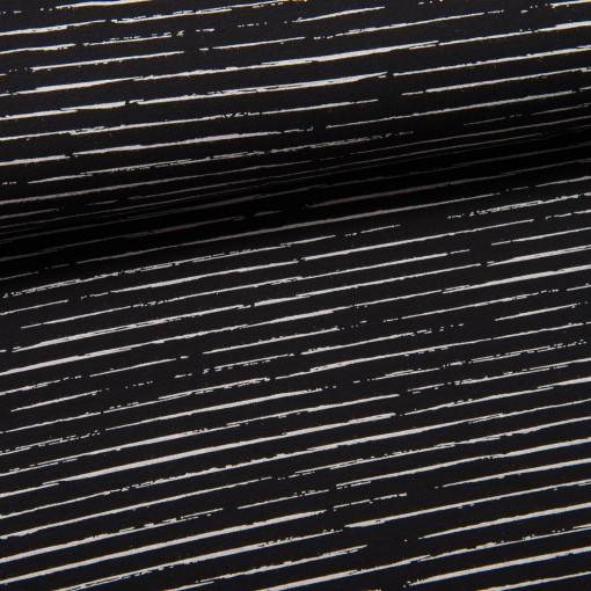 Single Stripes Jersey schwarz/weiß