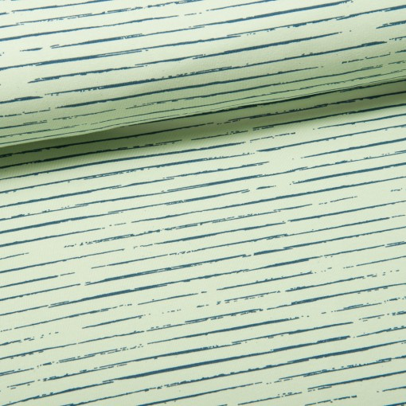 Single Stripes Jersey pastellgrün/new jeans