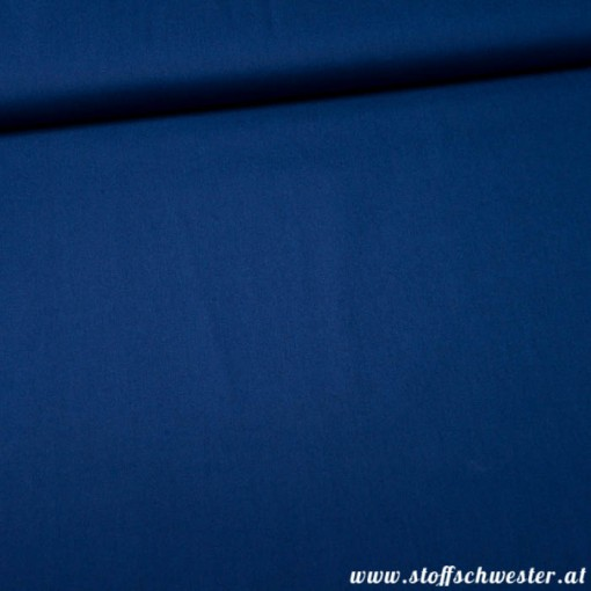 Stoffschwesters Unibaumwolle Soft Touch tintenblau