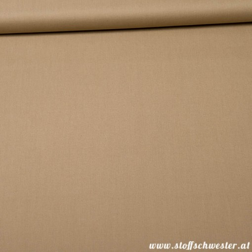 Stoffschwesters Unibaumwolle Soft Touch taupe
