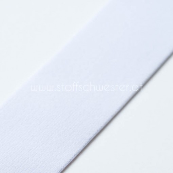 4cm Gummiband weiß