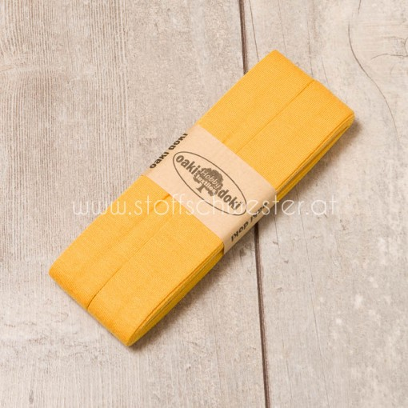 3m Jersey-Schrägband gelb