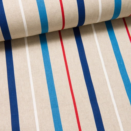 Stripes I Panama Canvas natur