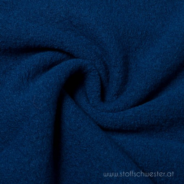 Walkloden jeansblau