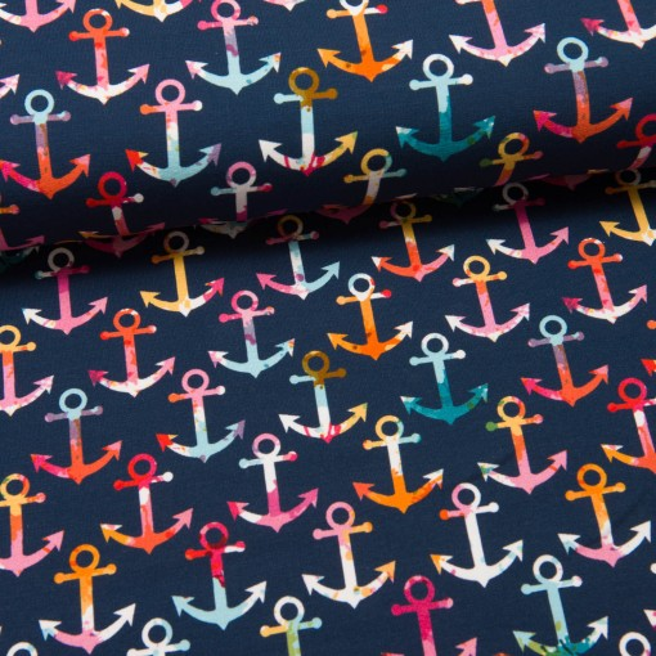 Colourful Anchors Sweat dunkelblau