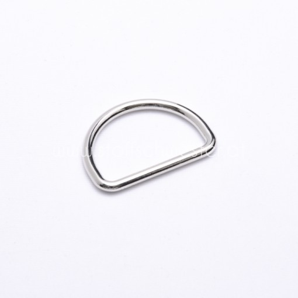 30mm D-Ring silber