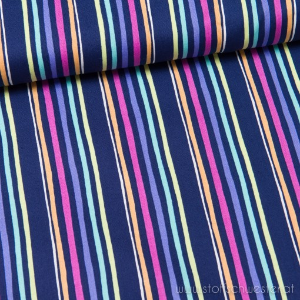 Aviory Stripe Baumwolle blau