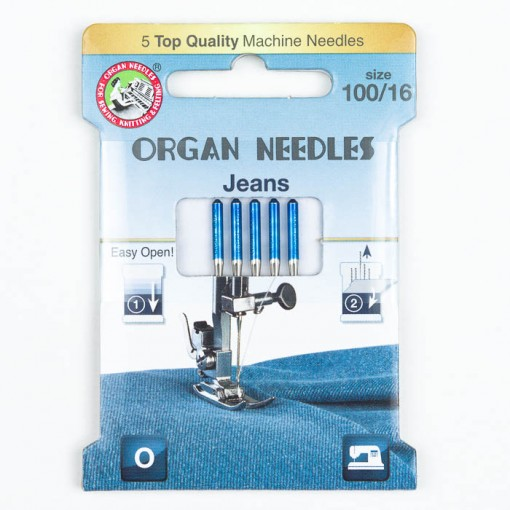 Organ Jeans Nadeln 100, 130/705H, Eco Pack
